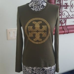 Tory Burch crystal logo sweater